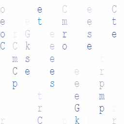 "A Background pattern that looks similar to computer code but with letters that spell ""Computer Geeks"""