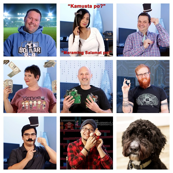 A collage of our nine-person managed IT services team